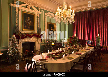 The dining room table decorated and set with flowers and for Dining hall decoration