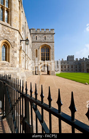The State Apartments and State Entrance at Windsor Castle, Berkshire, England, UK - Stock Photo