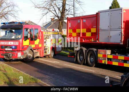 Malrosegate Power Station, York, UK. 27th December, 2015. North Yorkshire Fire crews have been called in with the - Stock Photo
