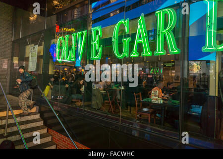 An Olive Garden restaurant in Times Square in New York is seen on ...
