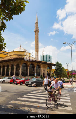Tirana, Albania.  The Et'hem Bey mosque. - Stock Photo