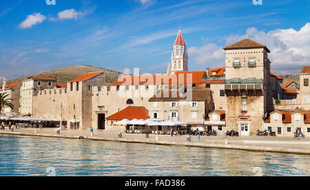 Cityscape of Old Town in Trogir, Croatia - Stock Photo