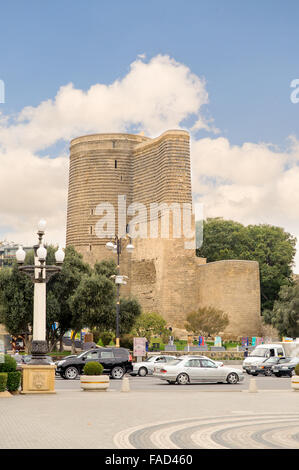 The Maiden Tower is Azerbaijan's unique architectural monument. The tower located in the south- - Stock Photo