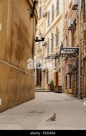 Narrow side street in old city in Baku, Azerbaijan. Inner City (Azerbaijani: iceri sehir) - Stock Photo