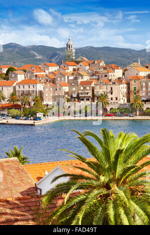Korcula Island, Korcula Old Town, Dalmatia, Croatia - Stock Photo