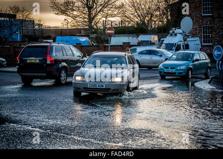York, UK. 27th December, 2015. Widespread disruption continues in York due to flooding of the River Ouse and River - Stock Photo