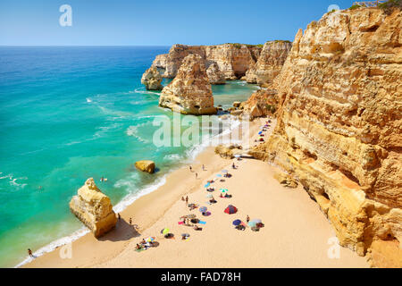 Praia da Marinha Beach, Algarve, Portugal - Stock Photo