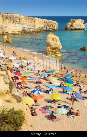 Algarve coast near Albufeira, Portugal - Stock Photo