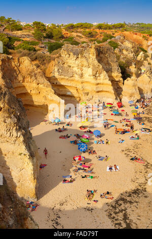 Algarve beach near Albufeira, Portugal - Stock Photo