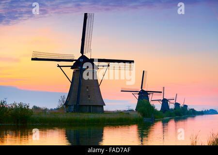Kinderdijk windmills - Holland Netherlands - Stock Photo
