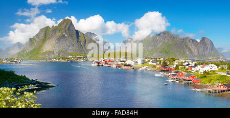 Lofoten Islands, Reine, Moskenes, Norway - Stock Photo