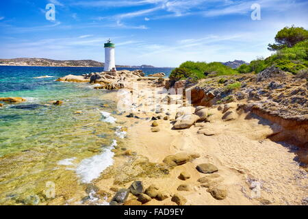 Sardinia Island - Lighthouse, Palau Beach, Italy - Stock Photo