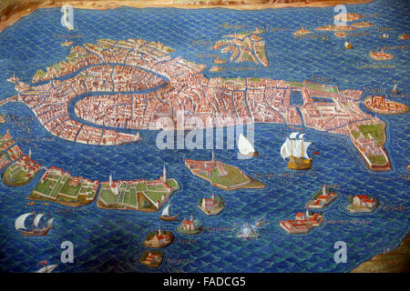 Map of Venice in the Gallery of Maps of the Vatican Museums