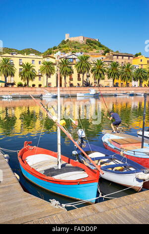 Bosa Old Town, Sardegna (Sardinia Island), Italy - Stock Photo