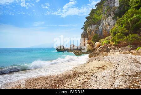 Sardinia Island - Cala Fuili Beach, Orosei Gulf National Park, Italy - Stock Photo