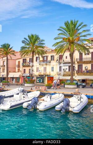 La Maddalena, view of the town and harbor, La Maddalena Island, La Maddalena Archipelago, Sardinia, Italy - Stock Photo