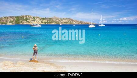 Cala Portese Beach, Caprera Island, Italy - Stock Photo