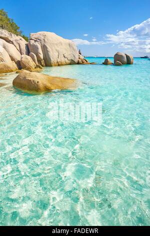 Corsica - Santa Giulia Beach, Porto-Vecchio, France - Stock Photo
