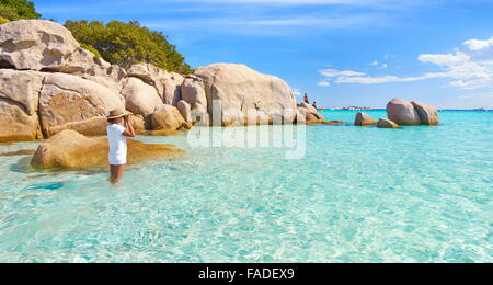 Corsica Island - Santa Giulia Beach, Porto-Vecchio, France - Stock Photo