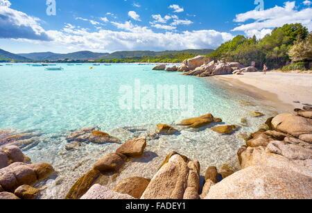 Corsica Island - Santa Giulia Beach, Porto-Vecchio, East Coast, France - Stock Photo