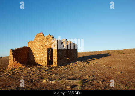 Derelict Abandoned Old Stone House Cottage With Loose Roof