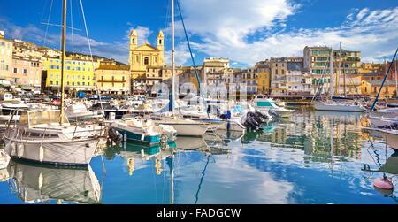 Bastia Port, Corsica Island, France - Stock Photo