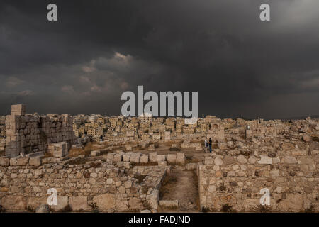 Citadel, Amman, Jordan, Middle East - Stock Photo