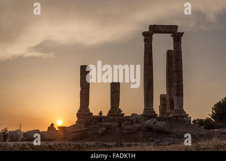 Temple of Hercules, Citadel, Amman, Jordan, Middle East - Stock Photo