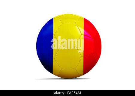 Soccer balls with team flags, Football Euro 2016. Group A, Romania - Stock Photo