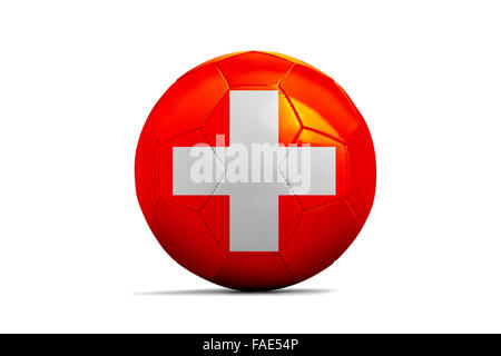 Soccer balls with team flags, Football Euro 2016. Group A, Swiss - Stock Photo
