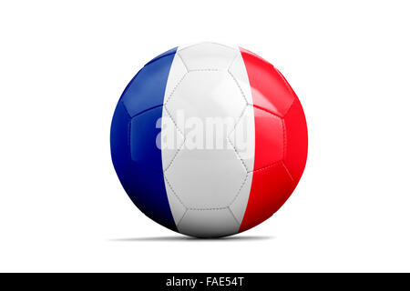 Soccer balls with team flags, Football Euro 2016. Group A, France - Stock Photo