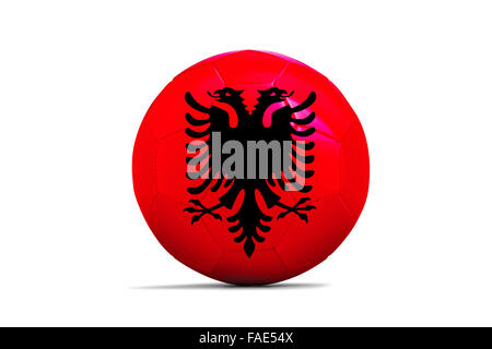 Soccer balls with team flags, Football Euro 2016. Group A, Albania - Stock Photo