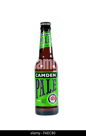 A bottle of Camden Pale Ale, from the Camden Brewery. - Stock Photo