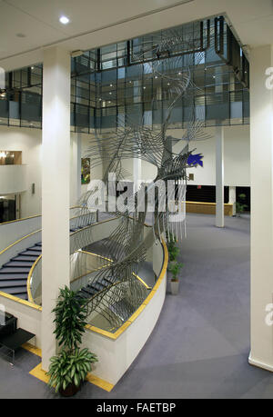 Art at the European Parliament Building Brussels Belgium - Stock Photo
