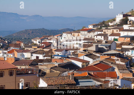 Residential districts in andalusian town.  Alcaudete, province of Jaen, Spain - Stock Photo