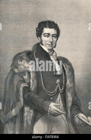 Sir Peter Laurie, 1778-1861, a British politician, Lord Mayor of London - Stock Photo