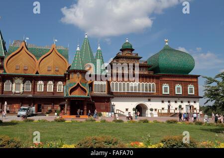 The Wooden Palace or the Palace of the Tsar Alexey Mikhailovich, Kolomenskoye, Moscow. - Stock Photo