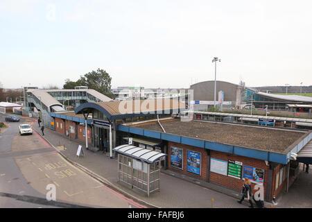 Southampton Airport Parkway railway station next to Southampton Airport - Stock Photo
