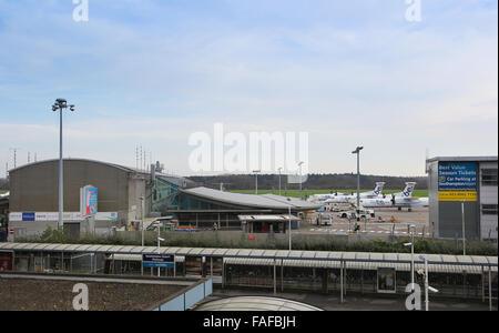 Southampton Airport in Eastleigh, Southampton, Hampshire - Stock Photo