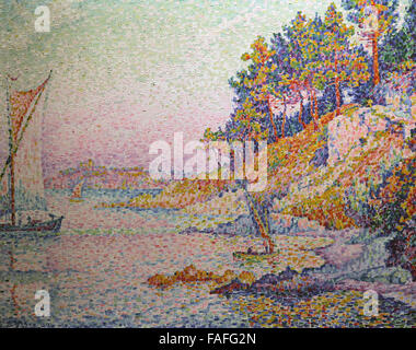 The Calanque The Bay 1906 by Paul Signac 1863-1935 French Neo-Impressionist painter - Stock Photo