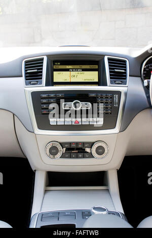 Hong Kong, China Jan 27, 2014 : Mercedes-Benz ML-Class BlueTec 2014 Model interior on March 27 2014 in Hong Kong. - Stock Photo