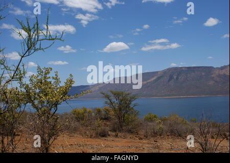 Lake Bogoria National Reserve, Great Rift Valley, Kenya, Africa - Stock Photo