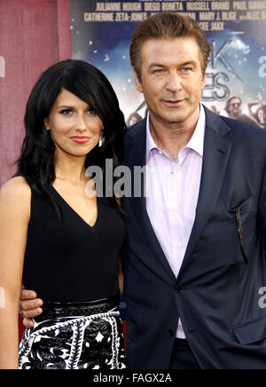 Alec Baldwin and Hilaria Thomas at the World premiere of 'Rock of Ages'  held at the Grauman's Chinese Theater in - Stock Photo