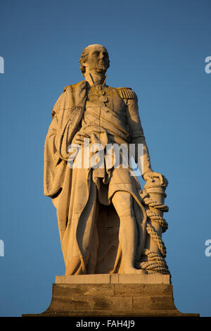The memorial to Lord Collingwood at Tynemouth in Tyne and Wear, England. - Stock Photo
