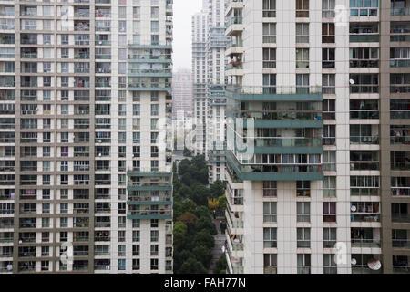 High rise apartment buildings in Shanghai