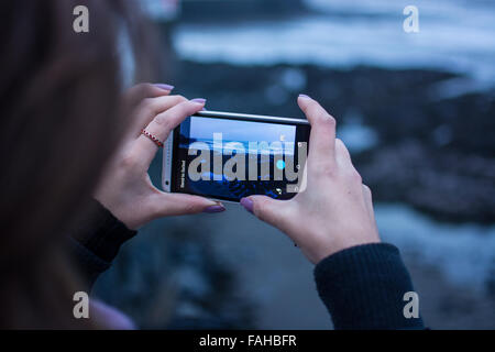 Aberystwyth, Wales, UK. 30th Dec, 2015. UK Weather: A break in Storm Frank Aberystwyth, Wales, UK 20th December - Stock Photo