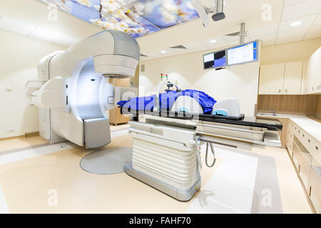 A radiation therapy for patients with caner. Modern cancer treatment in a new hospital. - Stock Photo