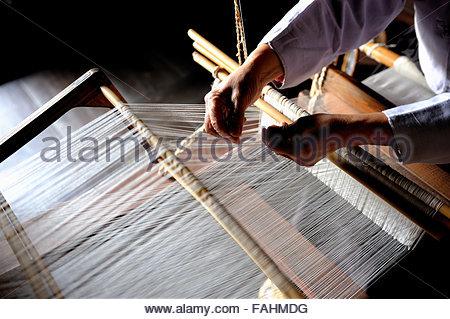 Weaving of Mosi in the Hansan region - Stock Photo
