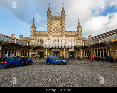 Temple Meads on the Great Western Railway is the main station for Bristol UK - Stock Photo