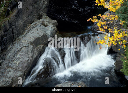 Waterfalls with Fall colors,Potholes BC Provincial Park - Stock Photo